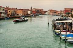 Murano in Venedig Stockfotos