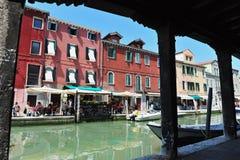 Murano wyspa w Weneckiej lagunie, Włochy Obraz Stock
