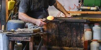Muranoglasmaker royalty-vrije stock foto