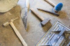 Muraren tools att fungera för män Royaltyfria Bilder