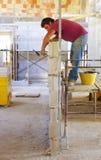 Muraren utför inre kvarter för ett murverk Arkivfoton