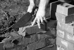 Murarz budowy domu rozszerzenie fotografia royalty free