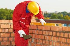 murarza budowy kamieniarza pracownik Fotografia Royalty Free