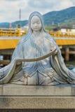Murasaki Shikibu statue in Kyoto Stock Photos