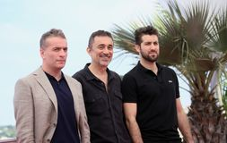 Murat Cemcir, Nuri Bilge Ceylan, Aydin Dogu Demirkol. Attends the photocall for the `Ahlat Agaci` during the 71st Cannes Film Festival at Palais on May 19, 2018 Stock Photography