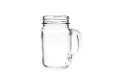 Muratore d'annata vuoto Jar isolato su fondo bianco Fotografia Stock Libera da Diritti