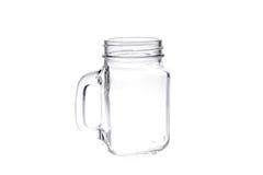Muratore d'annata vuoto Jar su fondo bianco Fotografia Stock