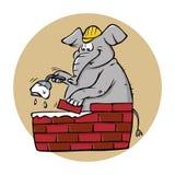 Muratore dell'elefante illustrazione vettoriale