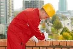 Muratore dell'operaio del muratore della costruzione Fotografie Stock Libere da Diritti