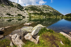 Muratovo Lake, Pirin Mountain Landscape Stock Image