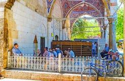 Muratpasa清真寺,安塔利亚门廊  免版税库存图片