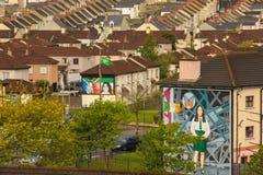 muraux Derry Londonderry Irlande du Nord Le Royaume-Uni Images libres de droits