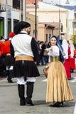 MURAVERA ITALIEN - April 2, 2017: 45th festival av citruns - Sardinia Arkivfoto