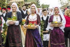 MURAVERA WŁOCHY, KWIECIEŃ, - 2, 2017: 45 cytrusów festiwal - Sardinia Zdjęcia Royalty Free