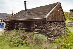 Murawa dom, Sisimiut, Greenland fotografia royalty free