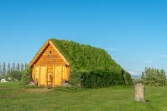 Murawa dom w Skalholt, Iceland obrazy royalty free