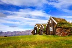 Murawa domy Zdjęcia Stock