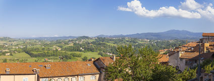 Murazzano (Cuneo): old village view. Color image Stock Photos