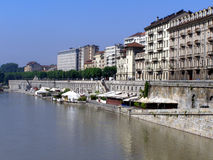 Murazzi Turin Royalty Free Stock Images