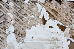 Murbruk på väggen Royaltyfri Bild