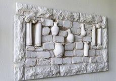 Murbrukväggpanelen forntida Grekland Royaltyfri Foto