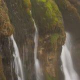 Murcarols-Wasserfalldetail. Cadi, Spanien. Stockbilder