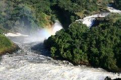 Murchison下跌NP,乌干达,非洲 免版税库存图片