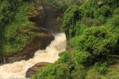 Murchison Falls From Below. Murchison Falls in Uganda, seen from below stock photo