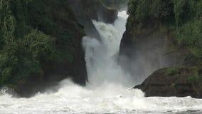 Murchison Falls closeup in super slow motion stock video