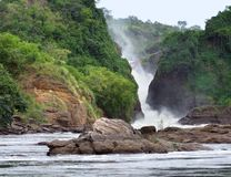 Murchison Falls in Uganda Royalty Free Stock Photos