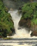 Murchison Falls Uganda. Looking into the canyon falls of Murchison Falls, in Murchison Falls National Park, Uganda stock photography