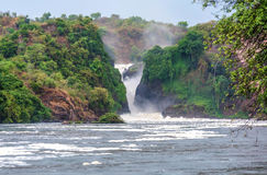 Murchison falls on the Victoria Nile river,Uganda Royalty Free Stock Image