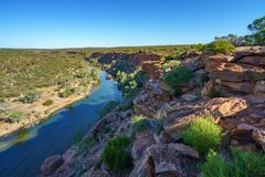 Murchison river from hawks head lookout, kalbarri national park, western australia 10. Murchison river from hawks head lookout in kalbarri national park on a stock images