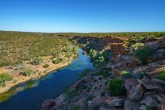 Murchison river from hawks head lookout, kalbarri national park, western australia 14. Murchison river from hawks head lookout in kalbarri national park on a royalty free stock photos