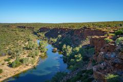 Murchison river from hawks head lookout, kalbarri national park, western australia 16. Murchison river from hawks head lookout in kalbarri national park on a royalty free stock photography