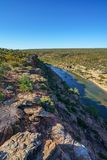 Murchison river from hawks head lookout, kalbarri national park, western australia 19. Murchison river from hawks head lookout in kalbarri national park on a stock photography