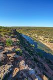 Murchison river from hawks head lookout, kalbarri national park, western australia 21. Murchison river from hawks head lookout in kalbarri national park on a stock photos