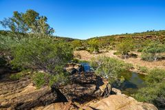 Murchison river from ross graham lookout, kalbarri national park, western australia 12. Murchison river from ross graham lookout in kalbarri national park on a royalty free stock photo
