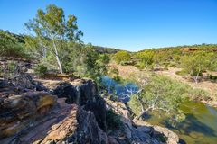 Murchison river from ross graham lookout, kalbarri national park, western australia 19. Murchison river from ross graham lookout in kalbarri national park on a royalty free stock images