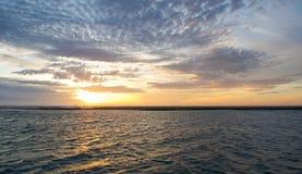 Murchison River Sunset in Orange stock photography