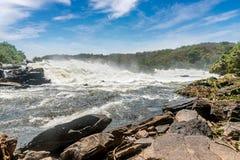 Murchison spada na Wiktoria Nil rzece, Uganda Zdjęcie Royalty Free
