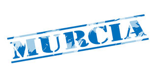 Murcia blue stamp. On white background Stock Image