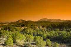 Murcia Countryside. A landscape view of the Murcia countryside Royalty Free Stock Photos