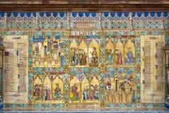 Murcia-keramische Dekoration im Quadrat von Spanien Lizenzfreies Stockbild
