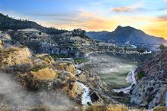 The Murcia mountains stock photography