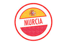MURCIA. Passport-style MURCIA rubber stamp over a white background Stock Image