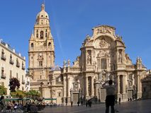 Murcia's cathedral. View of cathedral of Murcia in Spain Royalty Free Stock Images