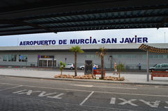 Murcia San Javier Airport In Spain - Terminal Building Departures Stock Photos