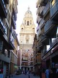 Murcia, Spain, April 02, 2013: Bell tower stock photo