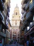 Murcia, Spanje, 02 April, 2013: Klokketoren stock foto